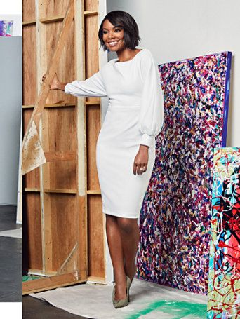 de771ea5a0 Shop Gabrielle Union Collection - Balloon-Sleeve Sheath Dress. Find your  perfect size online at the best price at New York & Company.