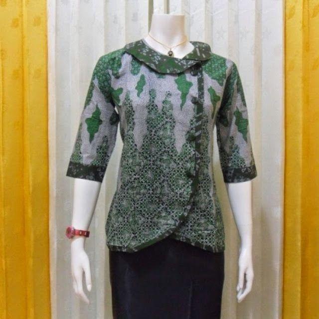 60+ Desain Baju Batik Kantor Wanita Elegan Modern Terbaru ...