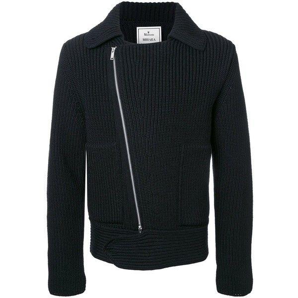 Miharayasuhiro zipped cardigan ($775) ❤ liked on Polyvore featuring men's fashion, men's clothing, men's sweaters, black, mens cardigan sweaters, mens zip cardigan sweater, mens zipper sweater and mens full zip sweater