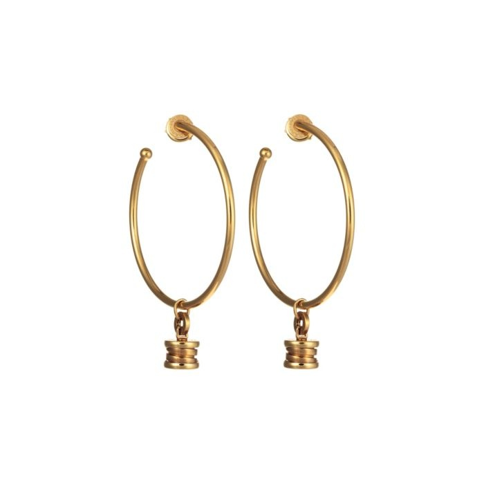 Bulgari Yellow Gold Bzero1 Charm Earrings featured in vente-privee.com