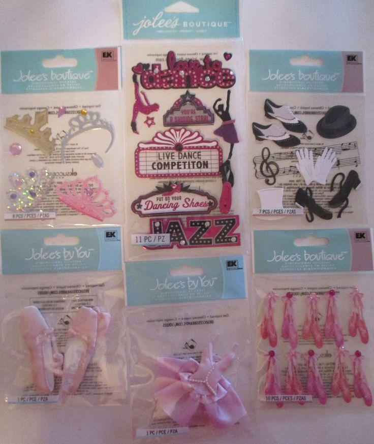 Jolee's Boutique Scrapbooking Stickers DANCE Jazz Tap Ballet Tutu #JoleesBoutique