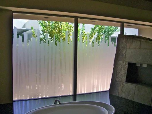 Image: Best Window Glass Privacy House Film Installation