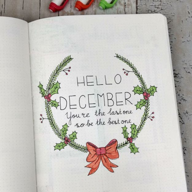 Yay, it's Christmastime — which, for some of us, means a bunch of new bullet journal opportunities! | 21 Fun And Festive Christmas Bullet Journal Ideas