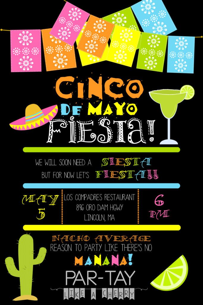 cinco de mayo invitation template party like a cherry pinterest