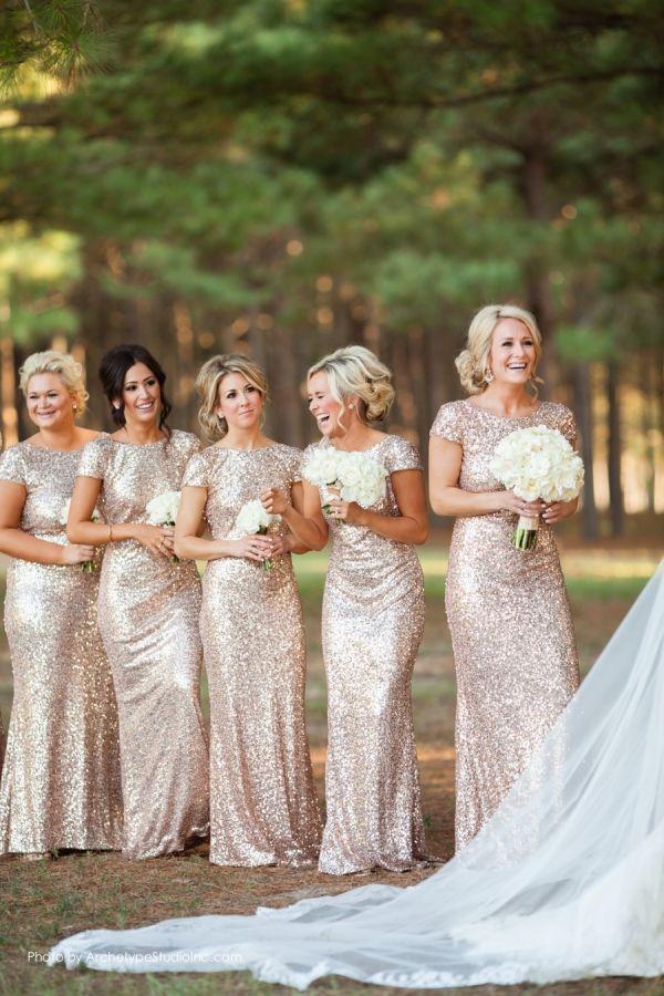 Glittery Bridesmaids