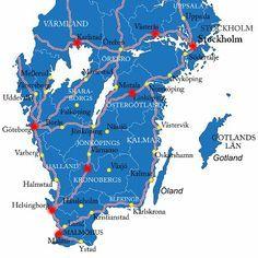 Südschweden Rundreise - Karte