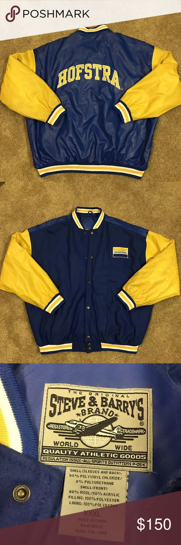 Hofstra University Varsity Wool XXXL Steve & Barry Hofstra University Wool Steve & Barry's variety jacket. Minor wear, great jacket! Steve & Barry's Jackets & Coats Bomber & Varsity