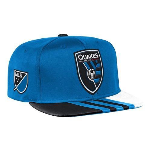 San Jose Earthquakes Hat Adidas Flat Brim Snapback Cap