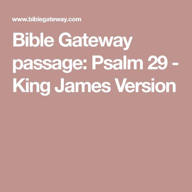 Bible Gateway passage: Psalm 29 - King James Version