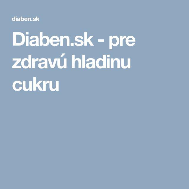 Diaben.sk - pre zdravú hladinu cukru
