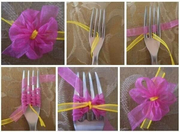 DIY make your own small ribbon flowers