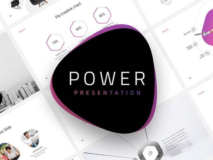 Download Power Free Minimal Powerpoint Template Deck