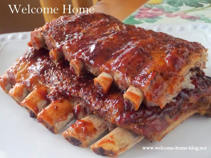 On the menu today will be my out of this world delicious oven roasted ribs that I have shared many times at Welcome...