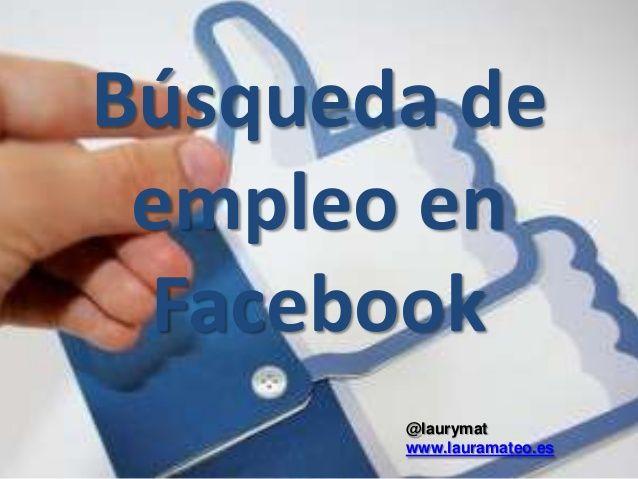 Cercar feina a Facebook
