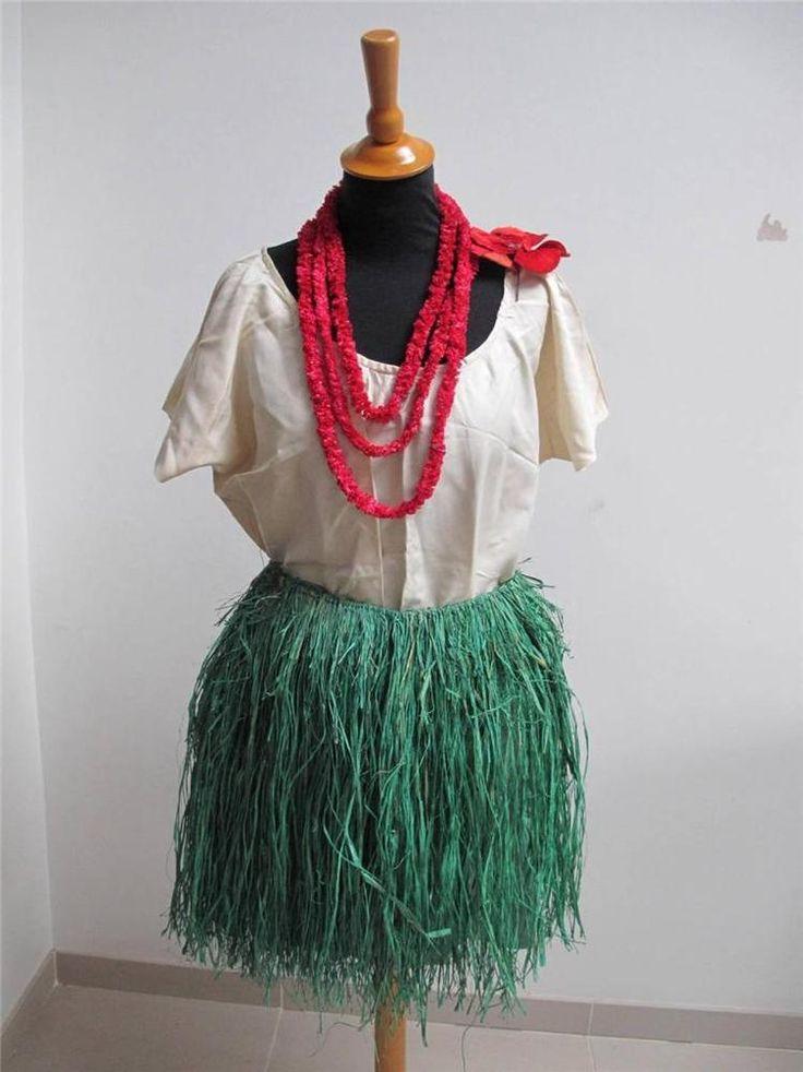 VINTAGE 1930's LADIES FANCY DRESS COSTUME - HAWAIIAN HULA  GIRL