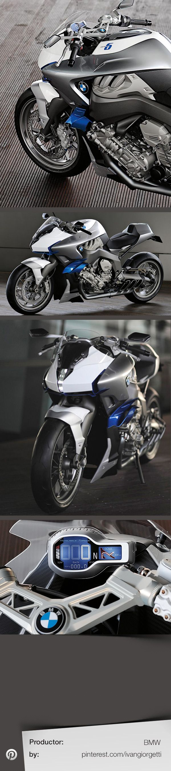 BMW Concept 6 #concept motorcycle #moto #prototype motorcycles