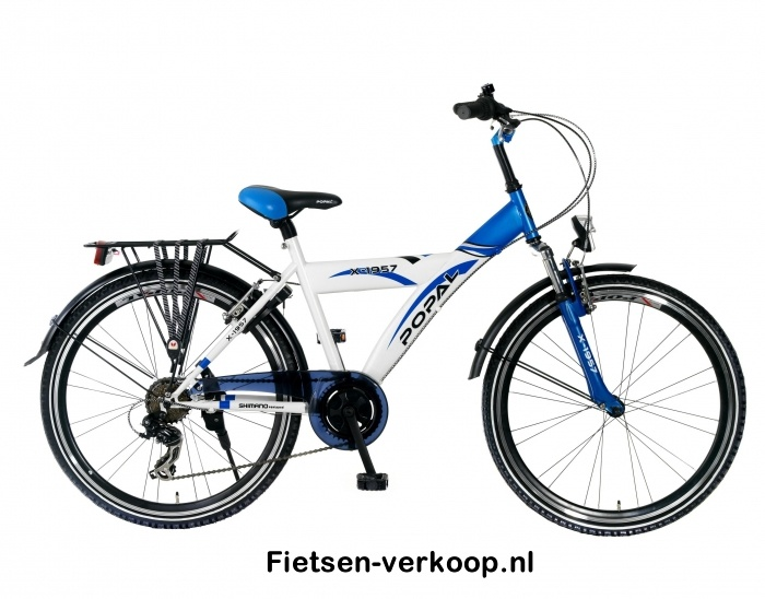 Jongensfiets X1957 6-speed Wit-Blauw 26 Inch   bestel gemakkelijk online op Fietsen-verkoop.nl