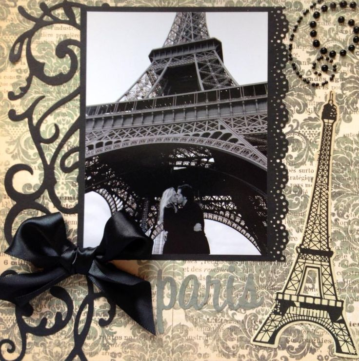 Paris Scrapbook page. Amazing time.