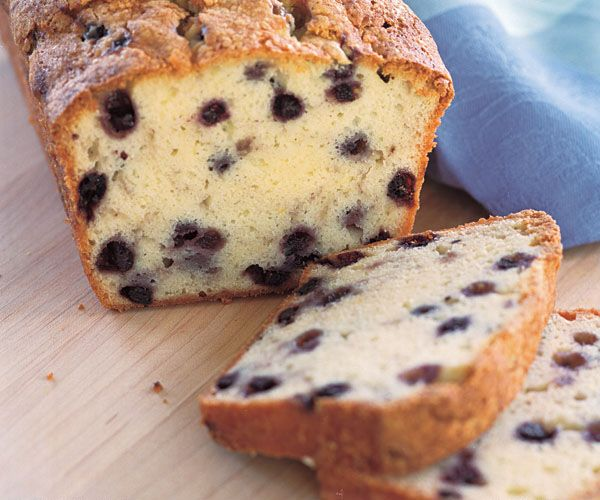 Cream Cheese & Wild Blueberry Pound Cake Recipe I added an ounce of cream cheese in exchange for an egg and used 2 TBSP lemon juice in place of the vanilla and lemon zest. I love blueberries and lemon. :)