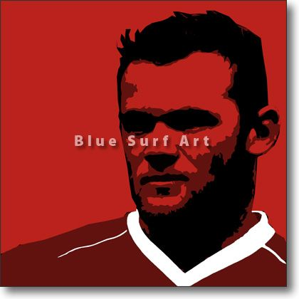 Rooney in Oil Painting on Canvas Price: from from US $92 Various Sizes Available Medium: Oil Painting on Canvas Type: Original - Paint to Order Custom Colours: Available Delivery Time: 7-10 days Item #: POP-SPORT-0020 #gift #christmasgift #canvasart #homedecor #interiors #popart #gifts