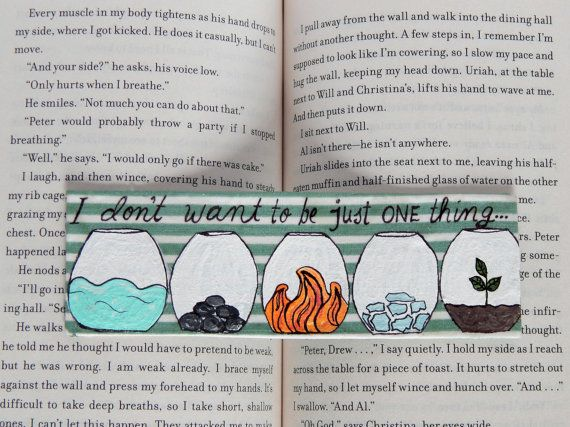 Divergent Bookmark // The Five Factions // by PeelsandPosies, $6.00