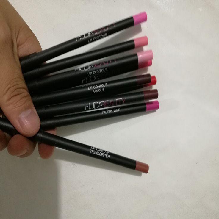 2016 in stock Factory Wholesale Huda Beauty Lip Contour Matte Lip Pencil 9 colors Lip Liner like new design