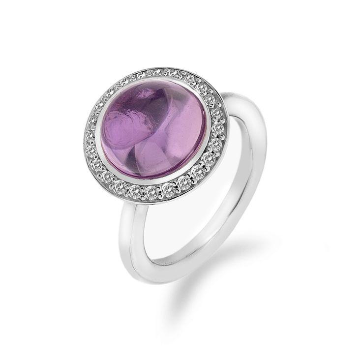 Stříbrný prsten Hot Diamonds Emozioni Laghetto Pink