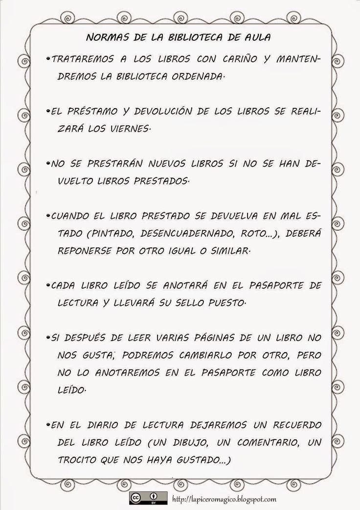 LAPICERO MÁGICO: Biblioteca de Aula: materiales.