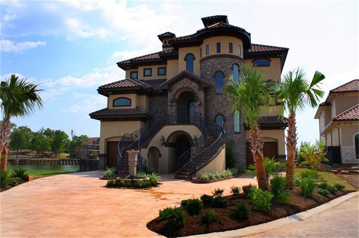 residential- lake conroe- double staircase