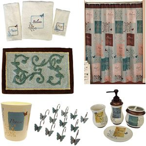i have all this set except for the rug and apothecary jar butterfly blessings bathroom - Walmart Bathroom Sets