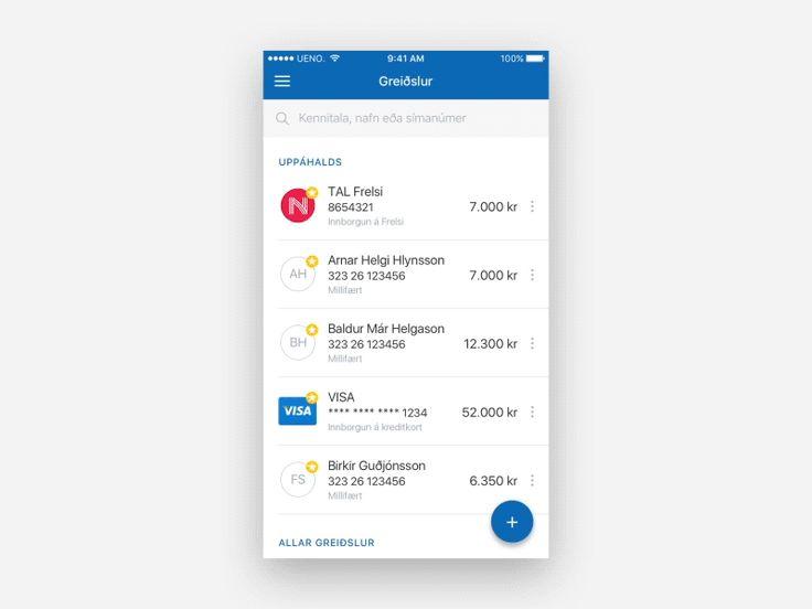 Arion banki app — UENO