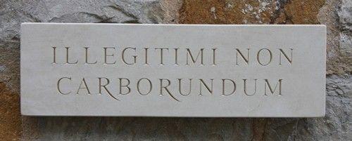 Marble Wall Sign 'Illegitimi Non Carborundum'