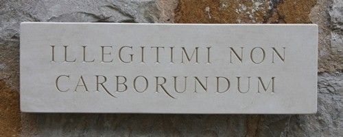 Marble Wall Sign 'Illegitimi Non Carborundum'