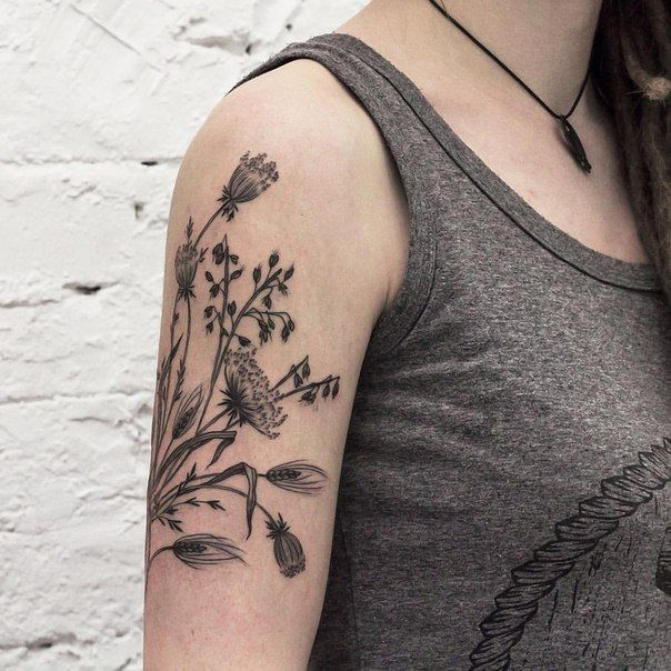 Queen Annes Lace Tattoo