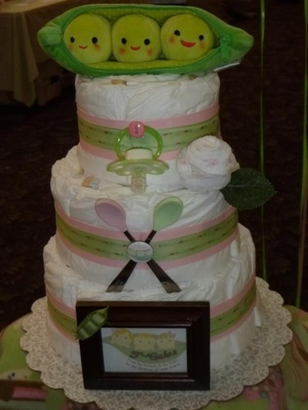 Sweet Pea Baby Shower Cake
