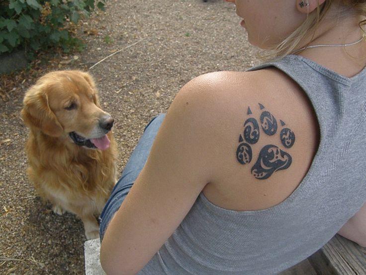 pattes de chiens tatoo pour moi pinterest. Black Bedroom Furniture Sets. Home Design Ideas