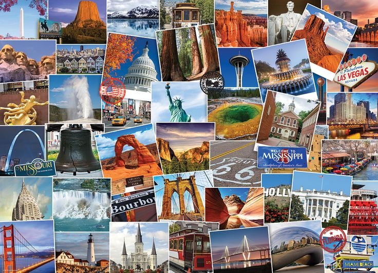 USA Globetrotter. 1000 pieces. It's a small world after all.  Your passport to the best of the USA in one puzzle, over 40 destinations to view.  This 1000 piece puzzle is sure to give you the travel bug as you will want to book your flight today!
