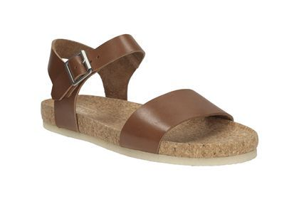 Womens Originals Sandals - Dusty Soul in Dark Tan Leather from Clarks shoes