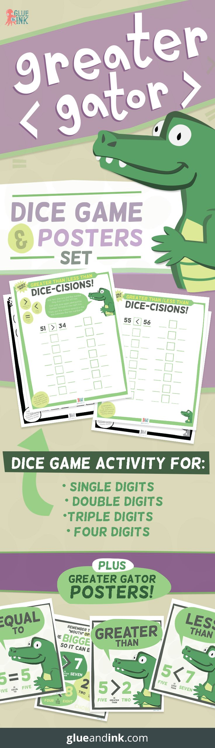 Grab this dice game + poster set for your classroom to encourage your students…