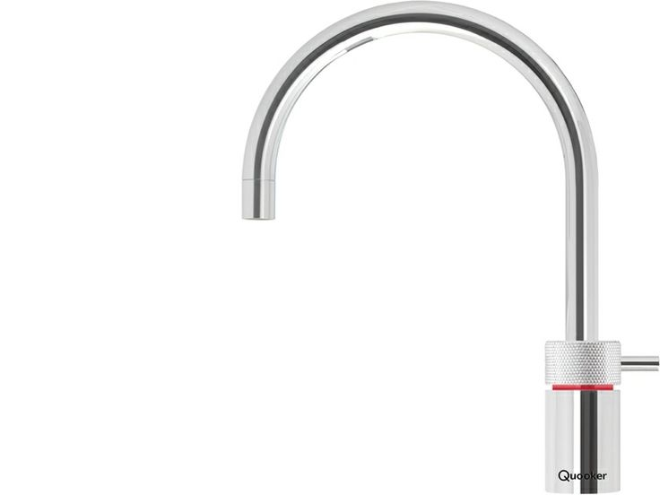 The Quooker Nordic Round dedicated boiling water tap looks beautiful in any kitchen space and delivers genuinely boiling water on demand. Available in chrome and brushed chrome, it is beautifully designed, safe, movable up and down and rotates through a full 360º.