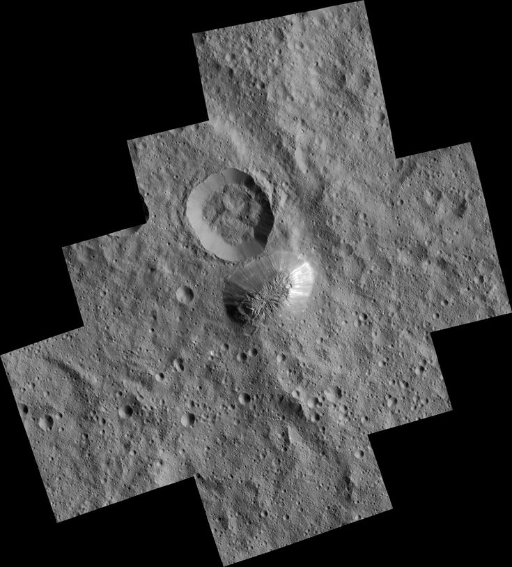 Ahuna Mons on Ceres Seen From Low-Altitude Mapping Orbit The mysterious mountain Ahuna Mons is seen in this mosaic of images from NASA's Dawn spacecraft. March 07 2016