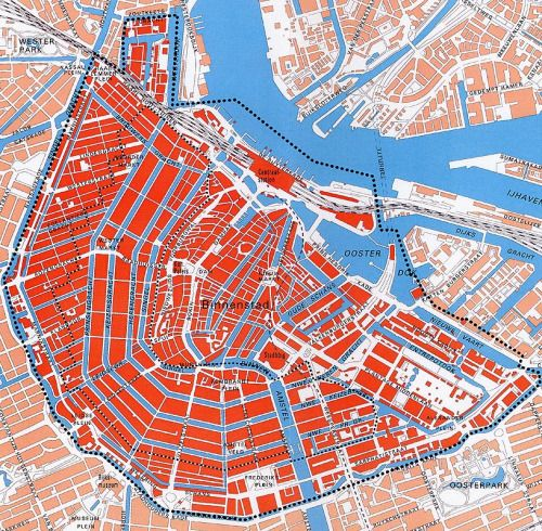 Canals of Amsterdam, detailed map of how Amsterdam canals work like streets