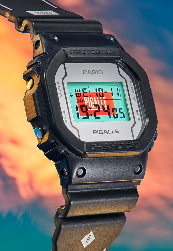 Casio & PIGALLE Team up for a Stylish Take on the Iconic DW-5600