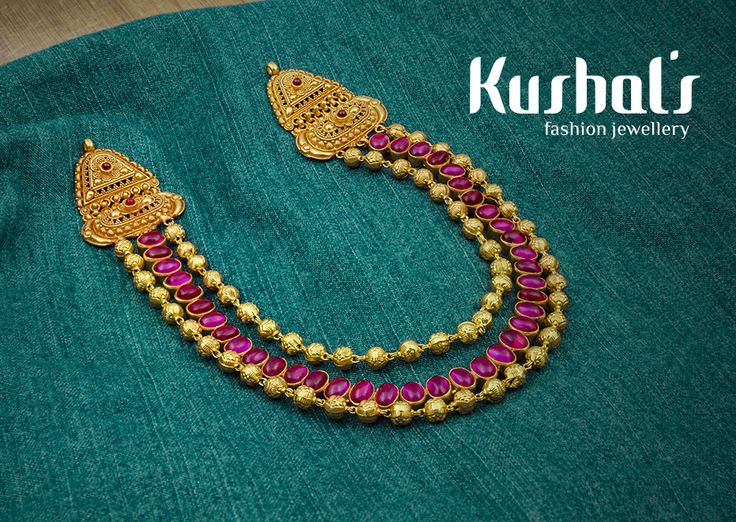 #Silver #TempleJewellery from #Kushals #FashionJewellery #Necklace Design No 50190