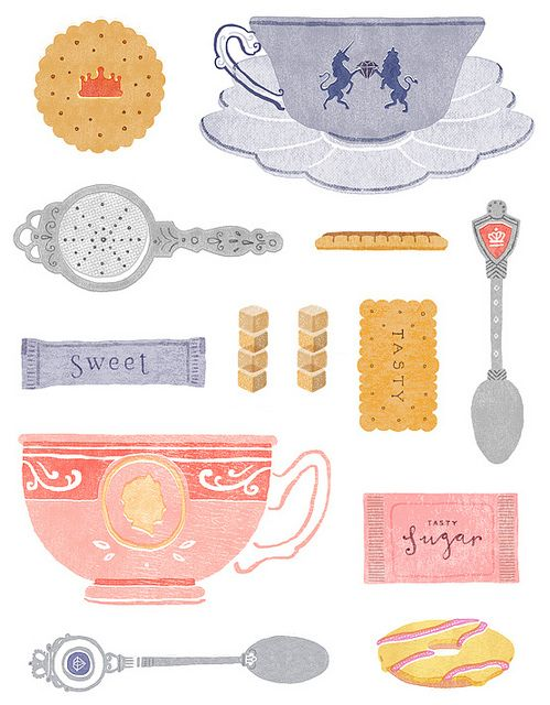 Jubilee tea by Little Doodles, via Flickr