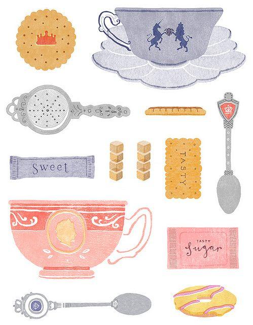 Jubilee tea by Little Doodles, via Flickr