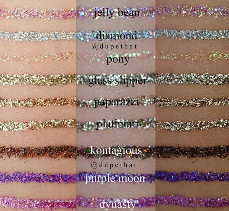 JD glow cosmetics glitter liners pt. 1