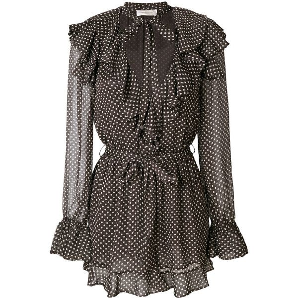 73ab65d4f5 Zimmermann polka dot print playsuit (94280 ALL) ❤ liked on Polyvore  featuring jumpsuits