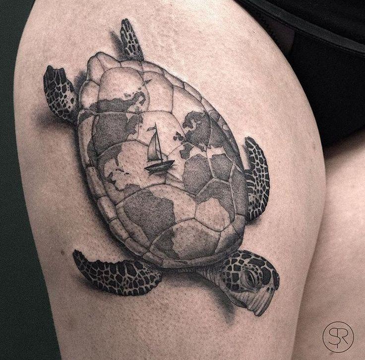 Sven Rayen turtle tattoo