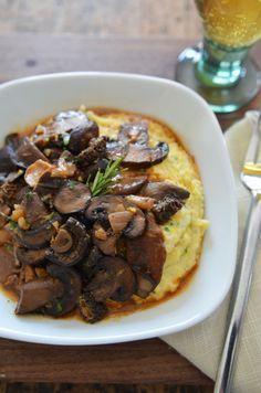 Mushroom Ragout & Polenta #recipe